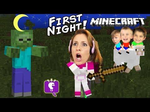 HobbyMom's First Night Playing Minecraft!