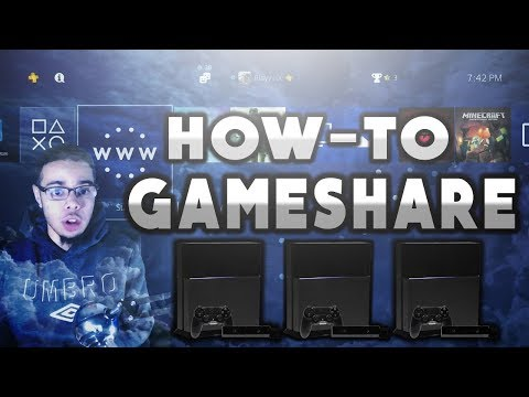 How To Gameshare With 5 or More People On PS4 (FACECAM TUTORIAL) !!2018!!