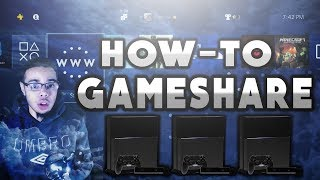 How to gameshare on ps4 and fix locked games(UPDATED VERSION