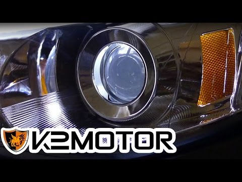 K2 MOTOR INSTALLATION VIDEO: HOW TO REPLACE LIGHT BULBS ON TM PROJECTOR HEAD LIGHTS