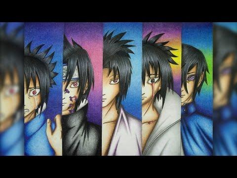 Redrawing Sasuke Uchiha/Time Line (Naruto Shippuden) [THANK YOU FOR 1K SUBSCRIBERS]