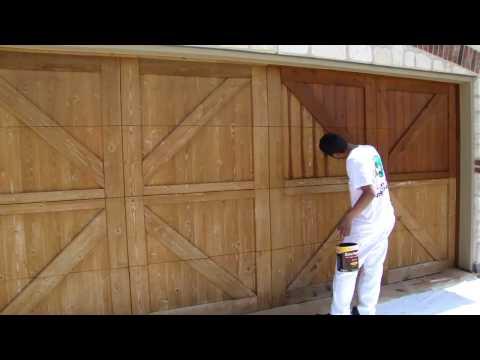 Garage Door Staining, | Dallas FT. Worth | Restoration, Fences, Decks, Pergola, Arbors, Gazebos
