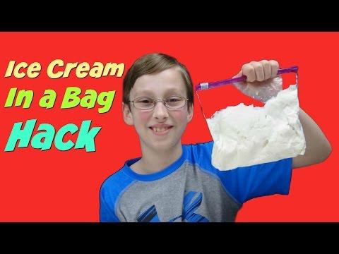 Homemade Ice Cream In A Bag Hack - Quick & Easy DIY Recipe | CollinTV