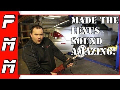 How To Make Your Car Sound AMAZING For Free! Free exhaust modification Lexus Is300