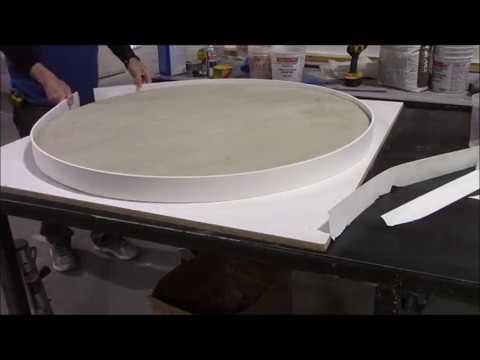 Making Bendable Forms - GFRC - Glass Fiber Reinforced Concrete