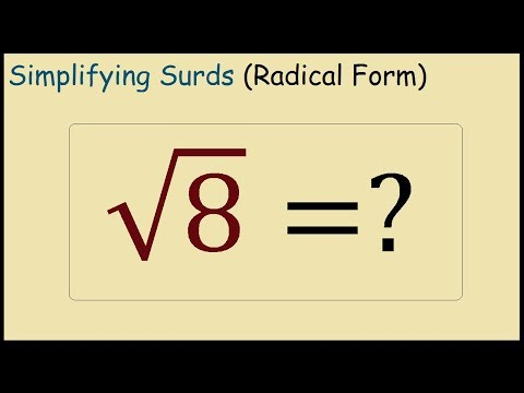 What is Square Root 8 in Simplest Radical Form