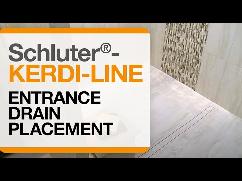 Barrier Free Showers: Schluter-KERDI-LINE with Entrance Drain Placement