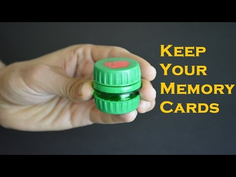 Creative Ways to Reuse Plastic Bottles (3) : Keep Your Memory Cards Healthy