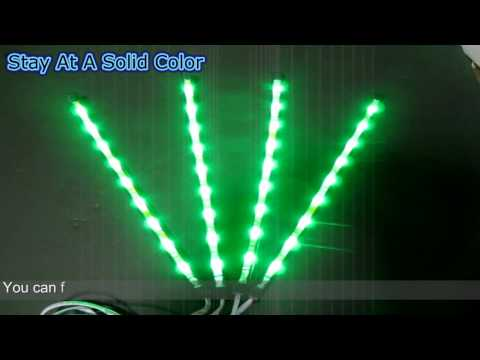 Sound Active 7 Color RGB LED Car Interior Lighting Kit (Part 1)