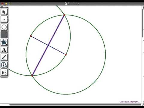 Geometer's Sketchpad Constructions: Midpoint using compass and segment tool