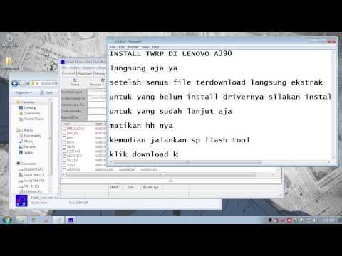 Install TWRP Lenovo A390