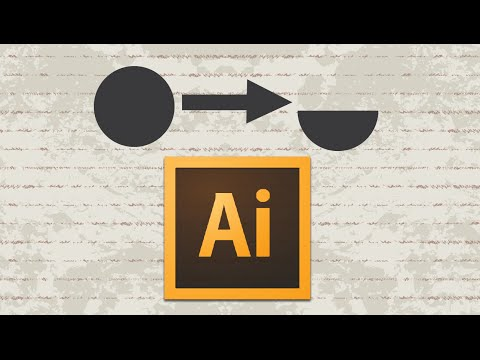 Video : How to make circle and a semicircle in adobe illustrator