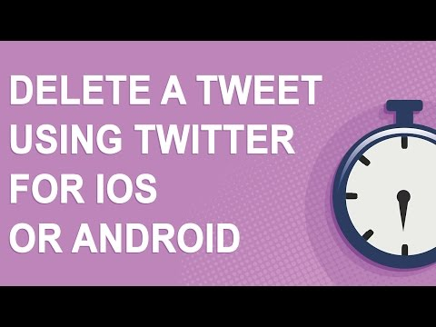 Delete a tweet using the Twitter mobile app for iOS or Android