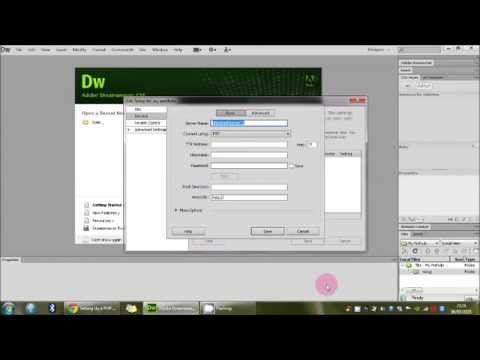 How to setup a PHP site in Adobe Dreamweaver CS6