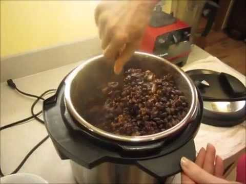Instant Pot vegan Beans and Rice high carb low fat Dr. McDougall style