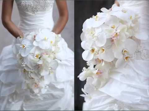 Orchids White Bouquet Set Of Pictures | Orchids White Bouquet Romance