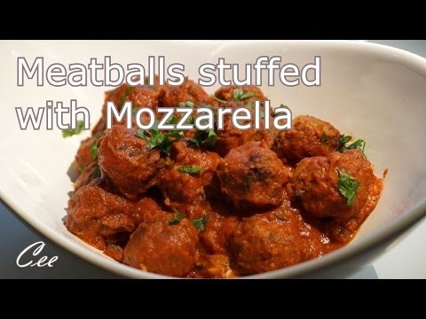 Meatballs Stuffed with Mozzarella Cheese