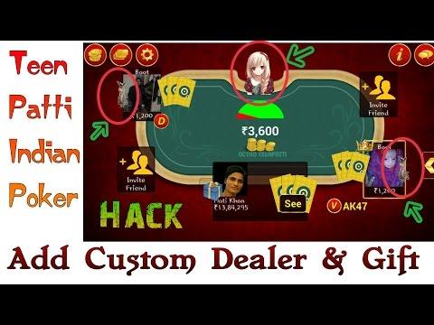 teen patti trick add custom dealer and gift
