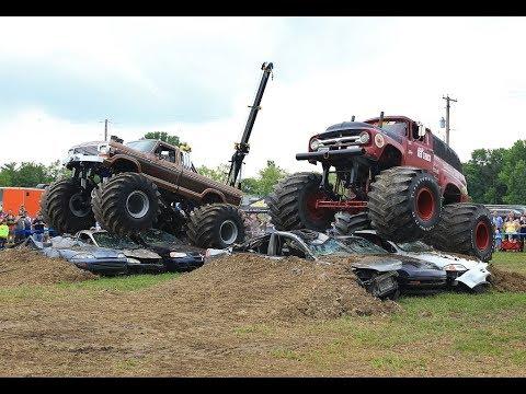 OLD SKOOL Monster Truck Racing from BIGFOOT Open House - Jun.2, ,2018 - BIGFOOT 4x4, Inc.