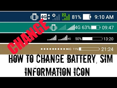 How To Change Battery, SIM, Data Icon On Your Android Device