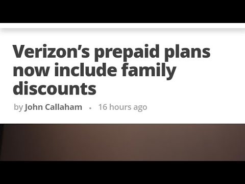 Verizon prepaid has a family plan now