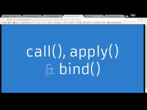 Apply, Call, and Bind Methods | Advanced JavaScript