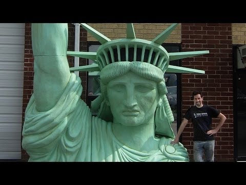 Statue Of Liberty 20 Foot Tall Foam Sculpture For Governors Ball Musi