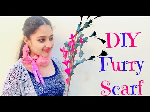 DIY: Easy way to make a Furry Scarf from Coat Fur | Megha Verma | The World of Sweetness