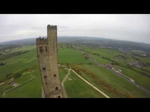 FPV flight over Victoria Tower, Castle HIll, Huddersfield