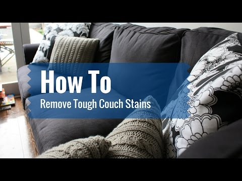 How To Remove Tough Couch Stains
