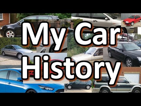 My Car History - It's Quite A List!