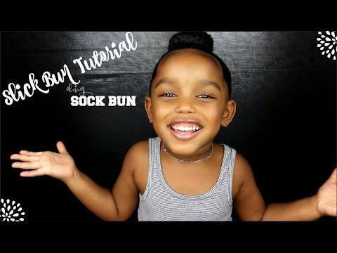 DIY Sock Bun: Slick Bun Tutorial for Short Curly Hair | Yoshidoll