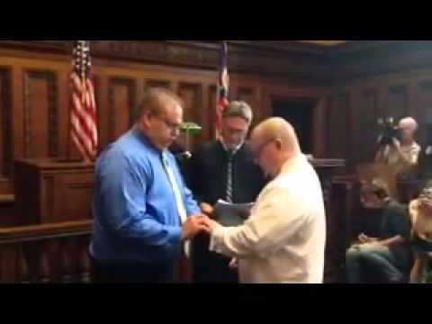 First same-sex Couple to be married in Cleveland, Ohio.