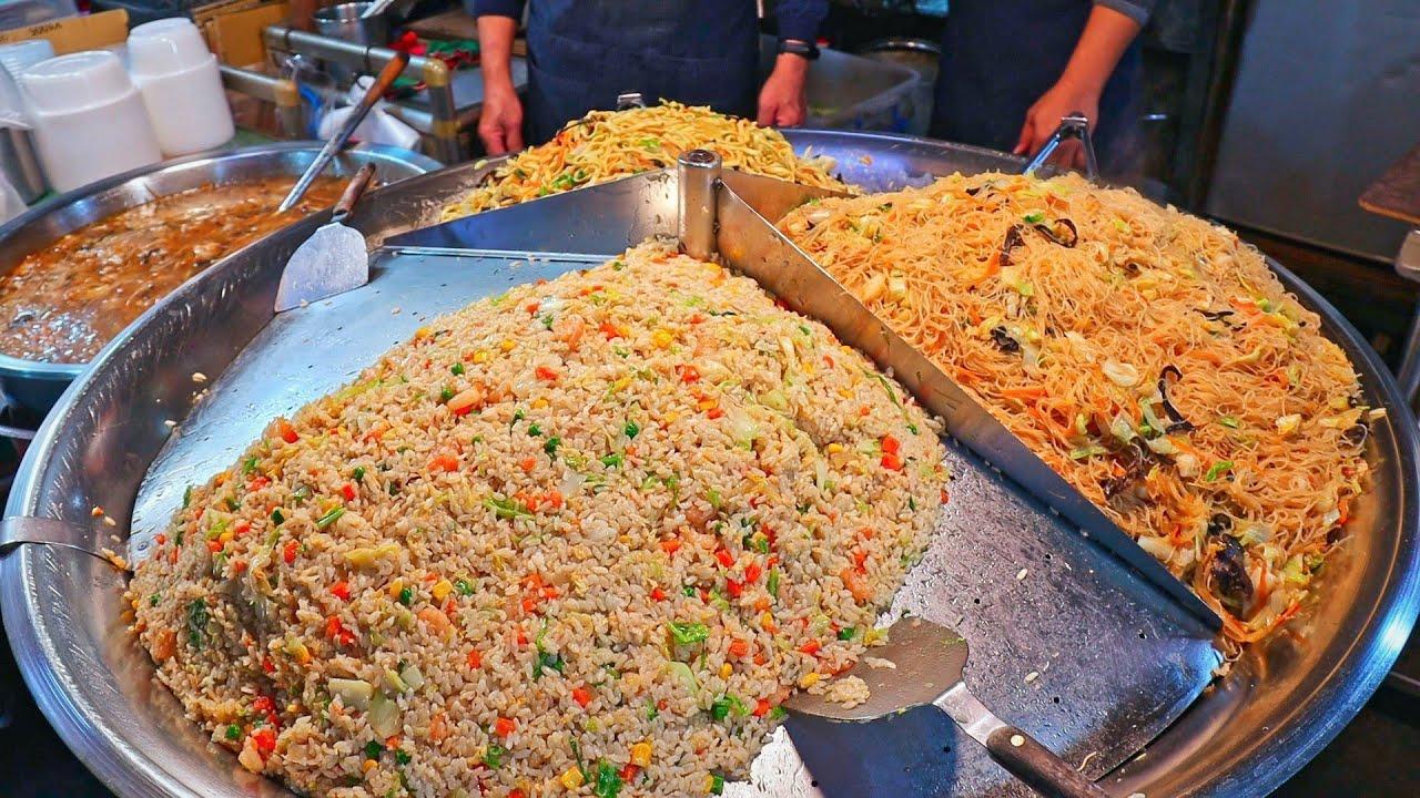 Giant Fried Noodles & Fried Rice Making Skills,Shrimp Rice/巨大炒麵,炒飯,炒米粉&百年蝦仁飯-Taiwanese Street Food