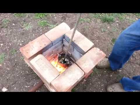 Melting Aluminum In A Homemade DIY Furnace Foundry