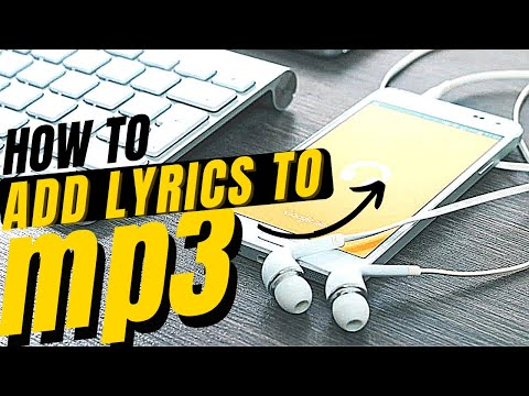 ✓✓✓How to Add Lyrics to Mp3 files