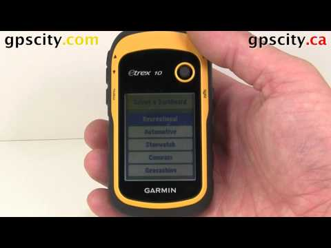 Map Setup on the Garmin eTrex 10 with GPS City