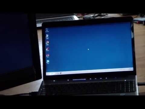 HP DV6 Laptop HDMI to Digital TV Demonstration