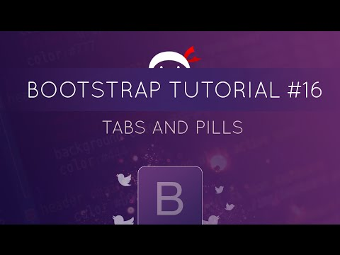 Bootstrap Tutorial #16 - Tabs and Pills (navigation)