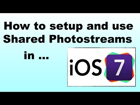 How to setup and use shared photostreams in iOS 7 on the iPad