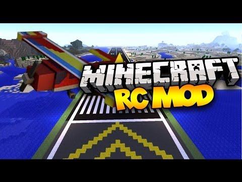 Minecraft: RC MOD! (Remote Controlled Planes!) | Mod Showcase