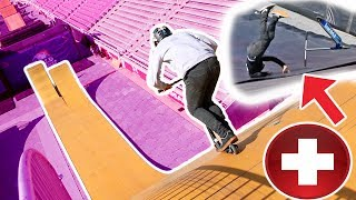 Over Rotated Triple Frontflip On Mega Ramp epic Scooter Fail