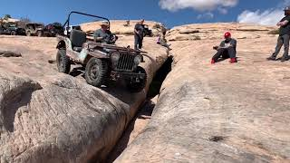 Grampa's Jeep on No Left Turn and The Golden Crack.