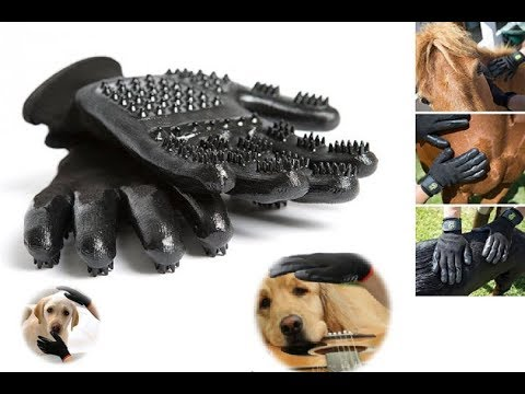 Pet Shedding Grooming Gloves   Grooming and Shedding