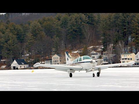 We Landed on a Frozen Lake! - Flight VLOG #3 - Alton Bay Ice Runway