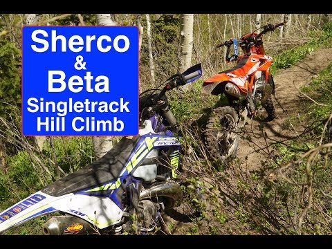 Sherco 300 and Beta 300 Back to Back on Single Track Hill   Episode 285