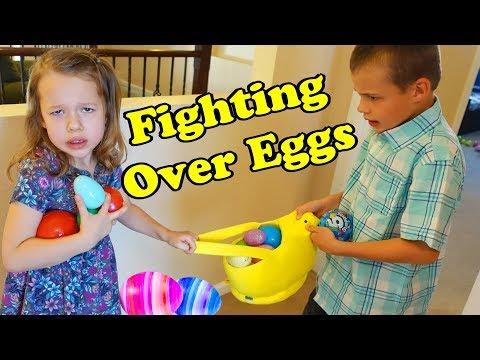 EASTER VLOG - Fighting Over Easter Eggs in Our Family Easter Egg Hunt Indoors