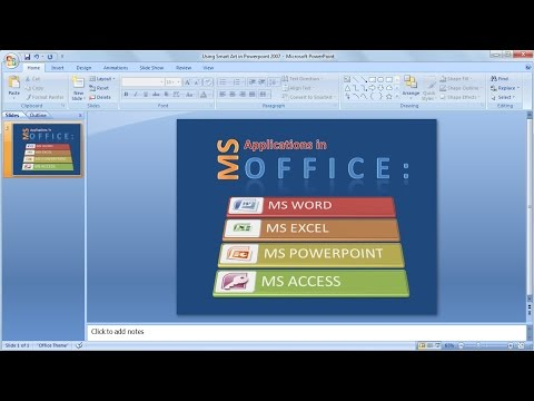 Tutorial powerpoint 2007 |How to learn easily using SmartArt in PowerPoint