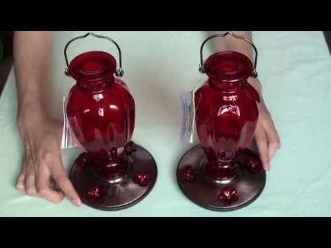 Perky Pet Vase Vintage Glass Hummingbird Feeder