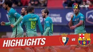 Resumen de Osasuna vs FC Barcelona (0-3)